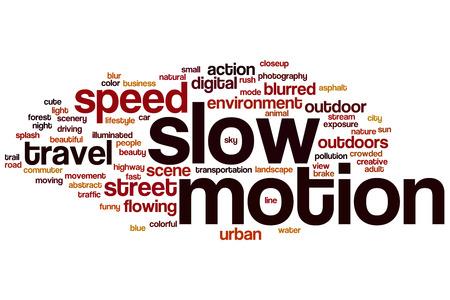 slow motion: Slow motion word cloud concept