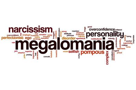 pretentious: Megalomania word cloud concept