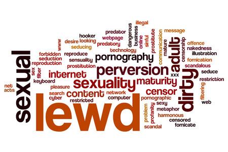Lewd word cloud concept 版權商用圖片