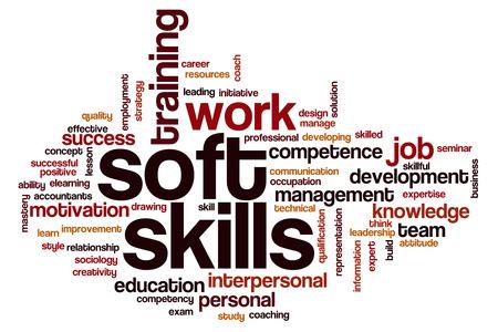 Las habilidades sociales concepto de nube de palabras Foto de archivo