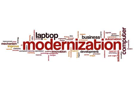 modernization: Modernization word cloud concept