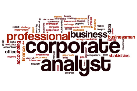 analyst: Corporate analyst word cloud concept
