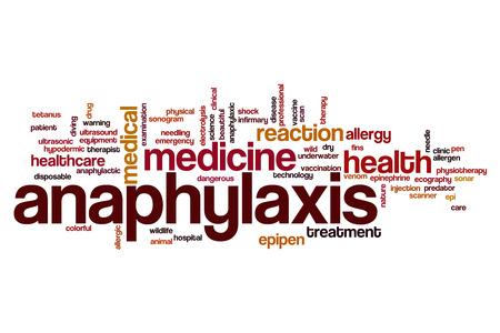 Anaphylaxis word cloud concept 版權商用圖片