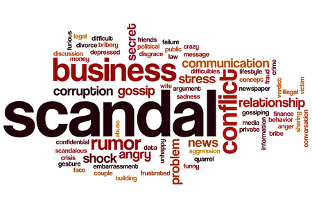 scandal: Scandal word cloud concept