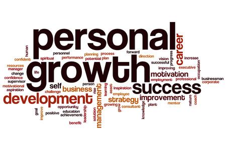 El crecimiento personal concepto de nube de palabras
