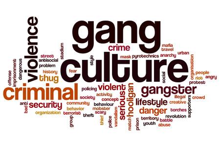 pandilleros: Cuadrilla de la cultura concepto de nube de palabras Foto de archivo