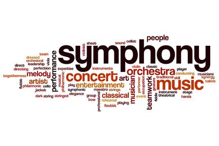 Symphony word cloud concept Stock Photo