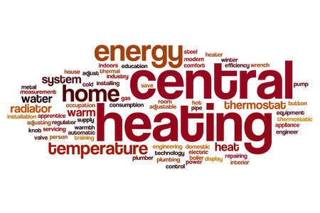 Central heating word cloud concept