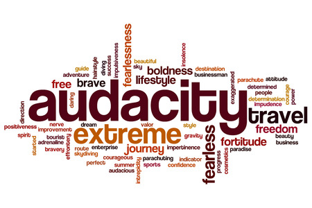 Audacity word cloud concept Stock Photo