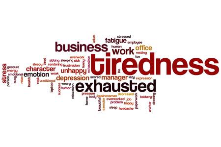 tiredness: Tiredness word cloud concept