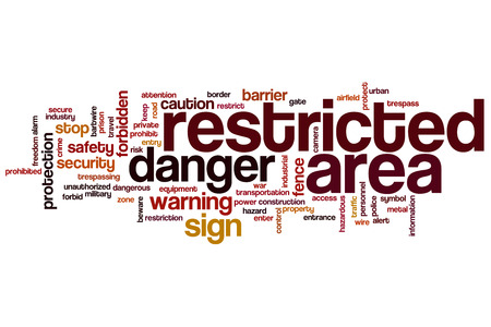 restricted area: Restricted area word cloud concept
