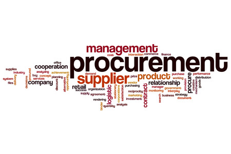 Procurement word cloud concept 写真素材