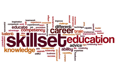 able to learn: Skillset word cloud concept