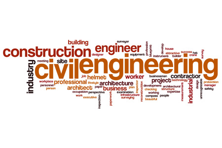 Civil engineering word cloud concept Stock Photo