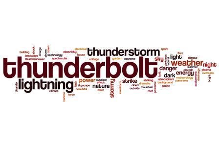 thunderbolt: Thunderbolt word cloud concept