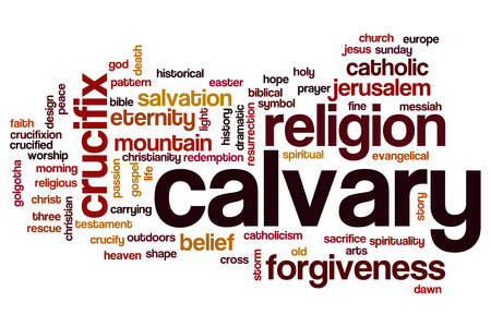 calvary: Calvary word cloud concept Stock Photo