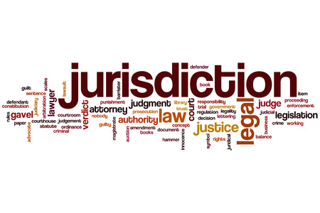 jurisdiction: Jurisdiction word cloud concept Stock Photo