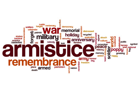armistice: Armistice word cloud concept Stock Photo