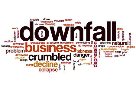 downfall: Downfall word cloud concept