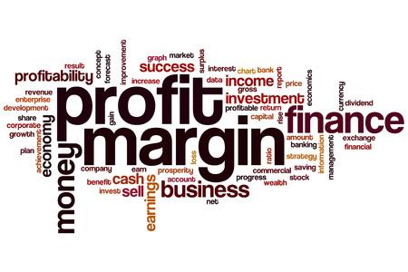 margen: Profit margin word cloud concept