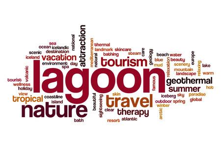 blue lagoon: Lagoon word cloud concept