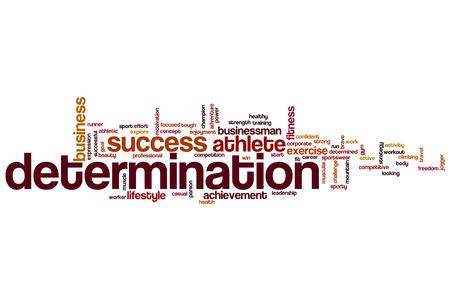 Determination word cloud concept Stock Photo