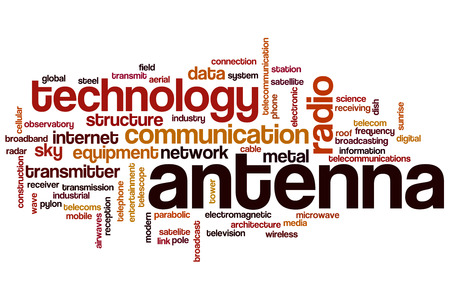 broadcasting: Antenna word cloud concept