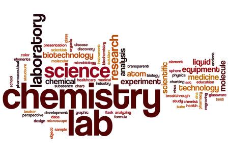 Chemistry lab word cloud concept