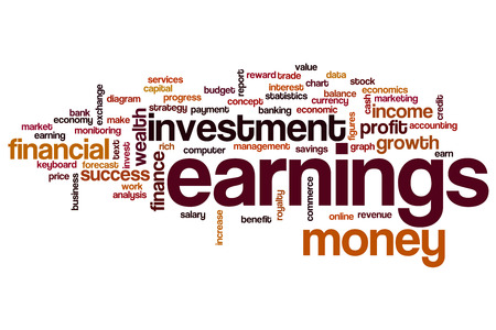 earnings: Earnings word cloud concept