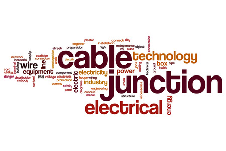 Cable junction word cloud concept Reklamní fotografie