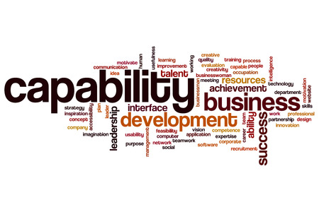 communication capability: Capability word cloud concept