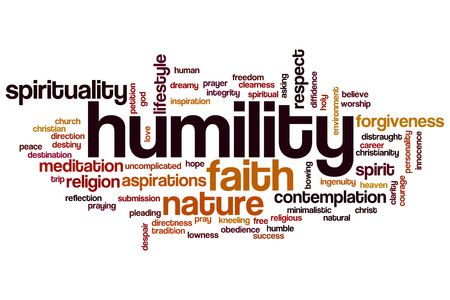 humility: Humility word cloud concept Stock Photo