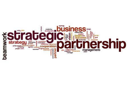 Strategic partnership word cloud concept