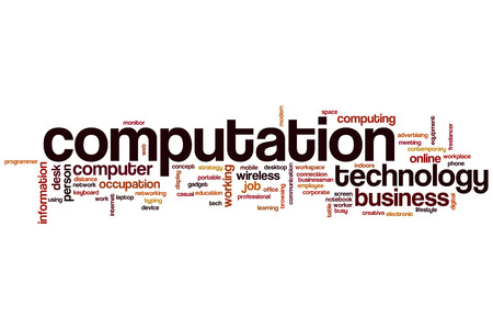 computation: Computation word cloud concept