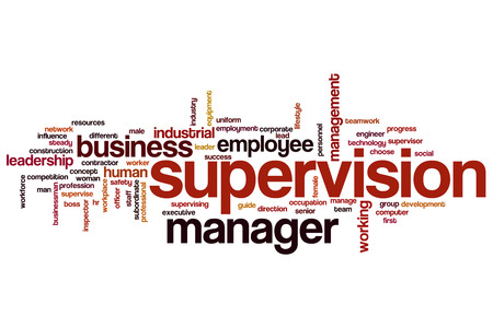 supervisi�n: Supervision word cloud concept Foto de archivo
