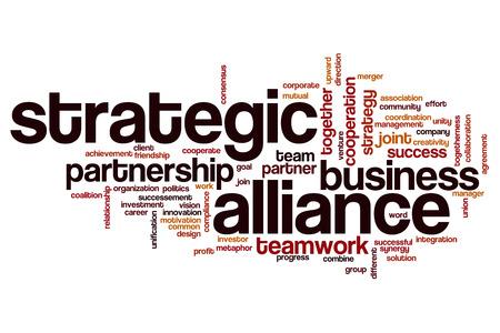 alliance: Strategic alliance word cloud concept Stock Photo