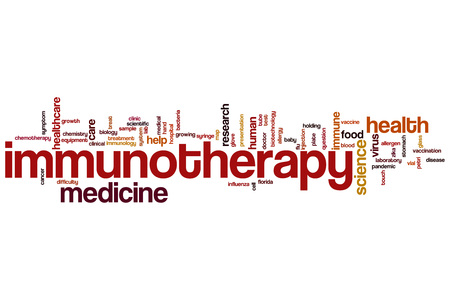 immunotherapy: Immunotherapy word cloud concept