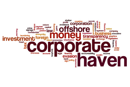 haven: Corporate haven word cloud concept
