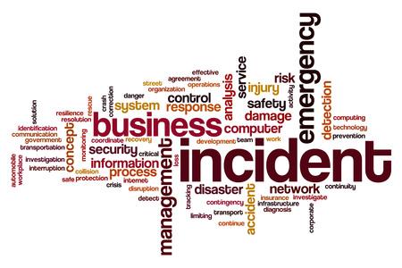 incident: Incident word cloud concept