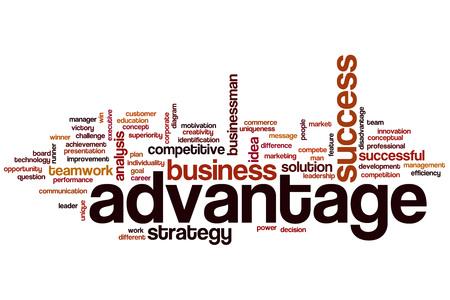 advantage: Advantage word cloud concept Stock Photo