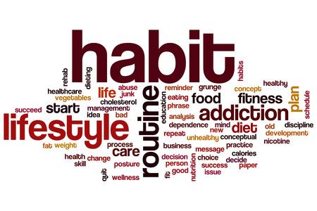 Habit word cloud concept Foto de archivo
