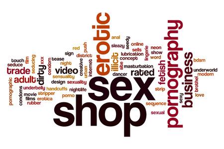sex shop: Sex shop word cloud concept