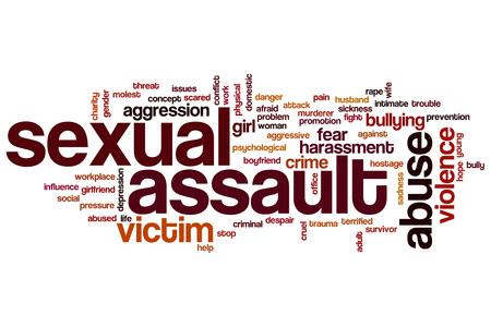 Sexual assault word cloud concept Foto de archivo