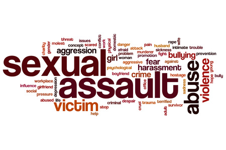 Sexual assault word cloud concept Imagens