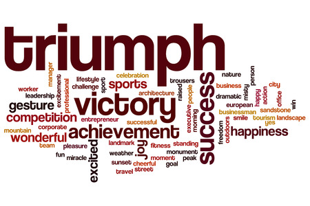 Triumph word cloud concept