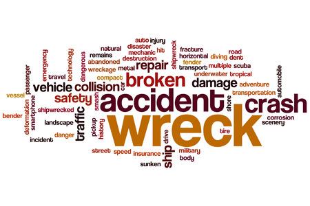 wreck: Wreck word cloud concept Stock Photo