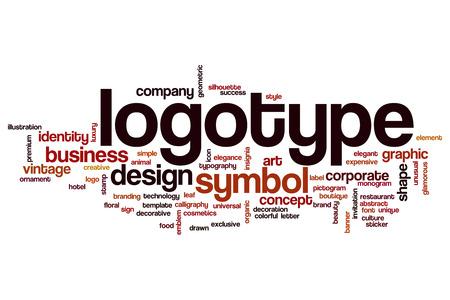 logotype: Logotype word cloud concept Stock Photo