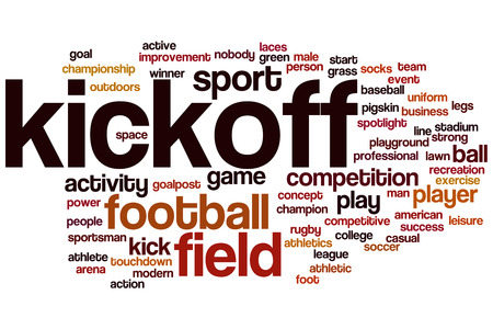 kickoff: Kickoff word cloud concept