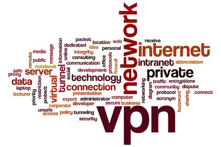 vpn: VPN word cloud concept