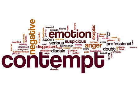 contempt: El desprecio palabra concepto de la nube